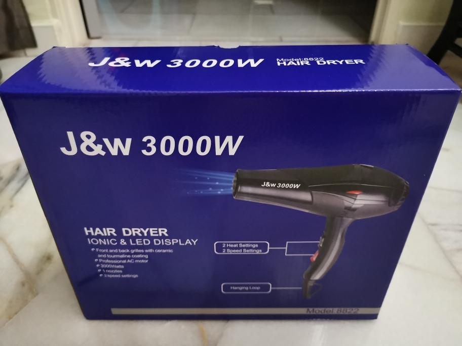 J&W 3000w Professional Ionic Salon Hair