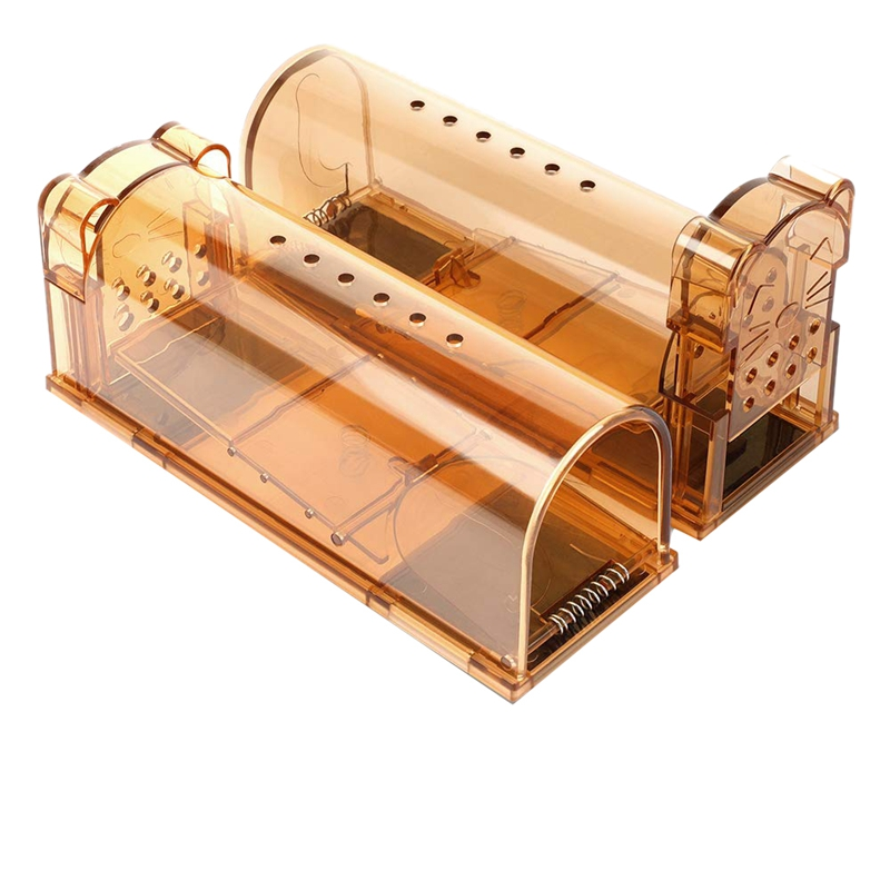 Upgrade Version Smart Humane Mouse Trap With Air Holes, No Chemical, Reusable, No Kill, Live Catch Mice Catcher and Release Rodents, Safe for Children and Pets (2 Sets)