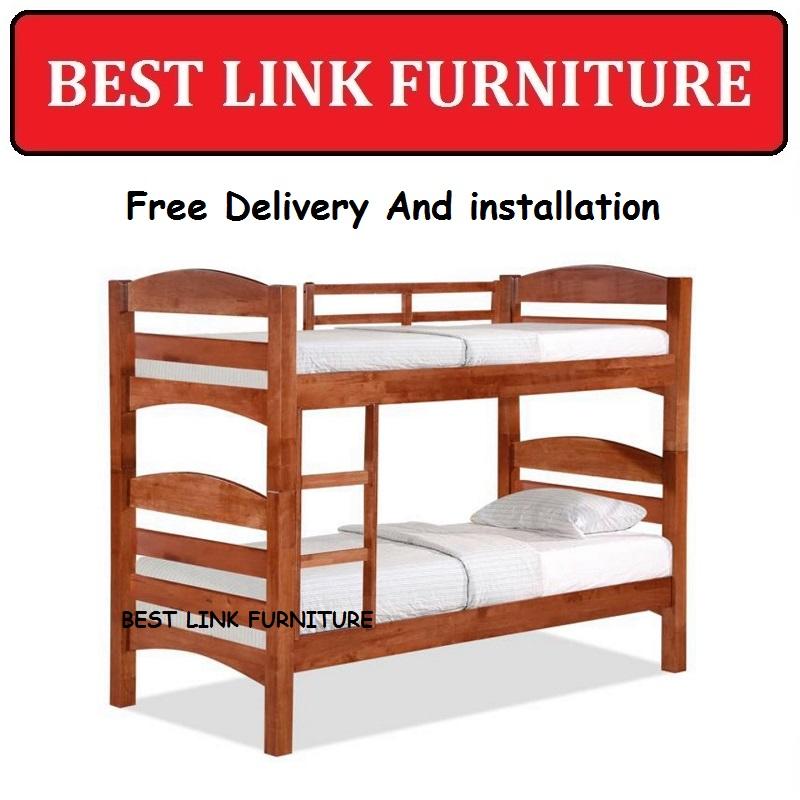BEST LINK FURNITURE BLF 58DD Solid Wooden Double Decker