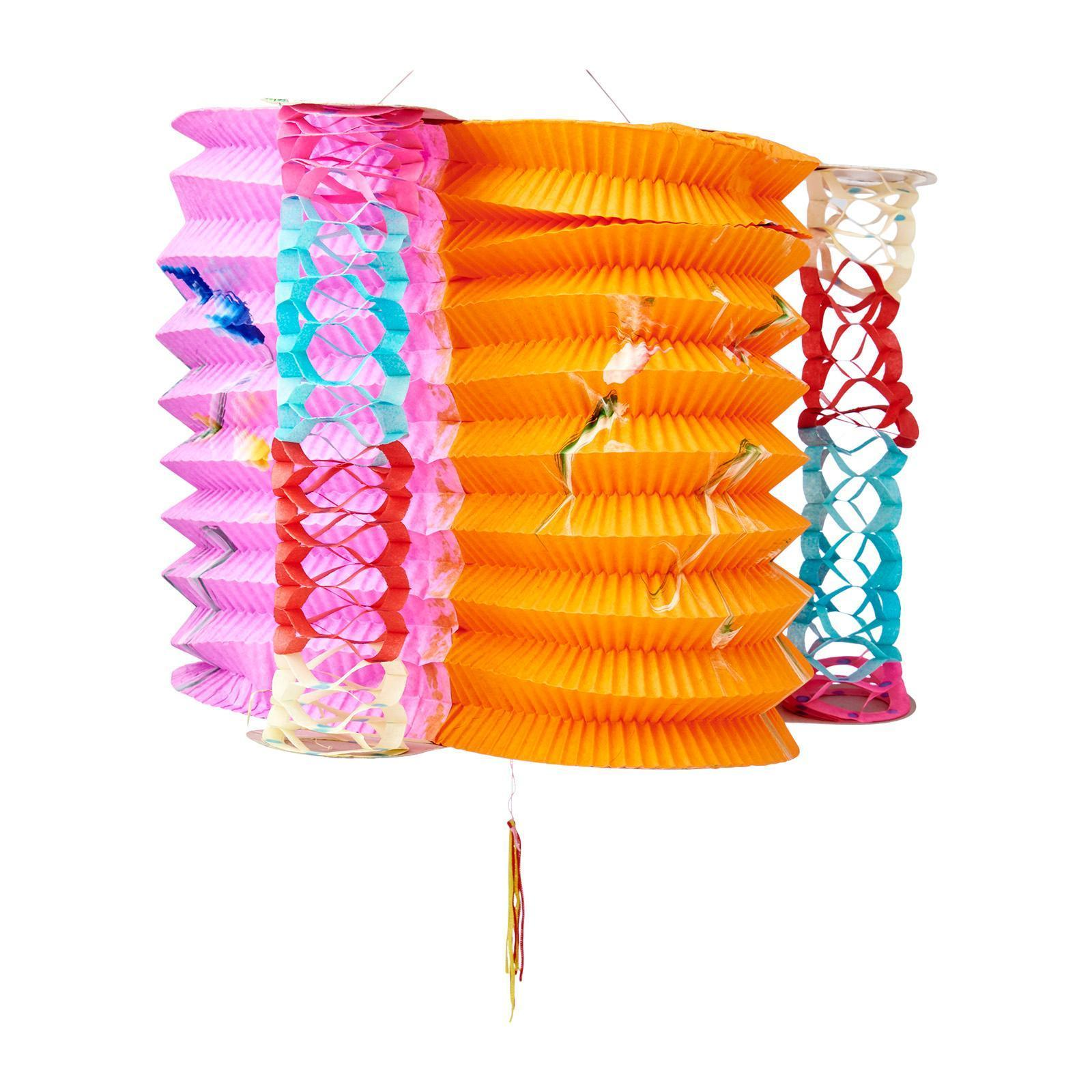 [LOCAL SELLER] 12PC #2894 Traditional Mid-Autumn Lantern Festival Column Paper Lantern