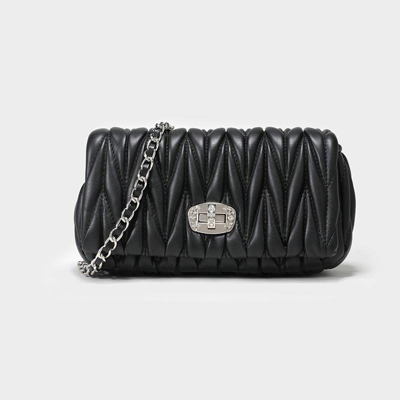 Miumiu Bag Small CK Package Qualified Western Style Female 2019 New Style Rhombus Chain Evening Bag Diamond Set Shoulder Womens Bag