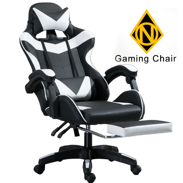 Gaming Home Office Chair with Leg Rest Wheel Roller Game Study Hip Support SGS Certified Computer Rotatable Adjustable Height Black Red White Blue Pink [3 Weeks Delivery]