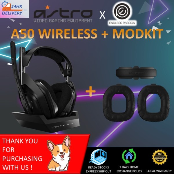 Astro A50 Wireless Gen 4 Black Gaming Headset Plus Base Station for PS4/PC [24 hours delivery]