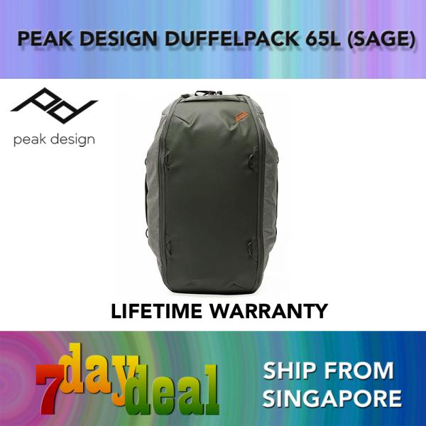 Peak Design Travel Duffelpack 65L Duffle Duffel Bag (Black / Sage)