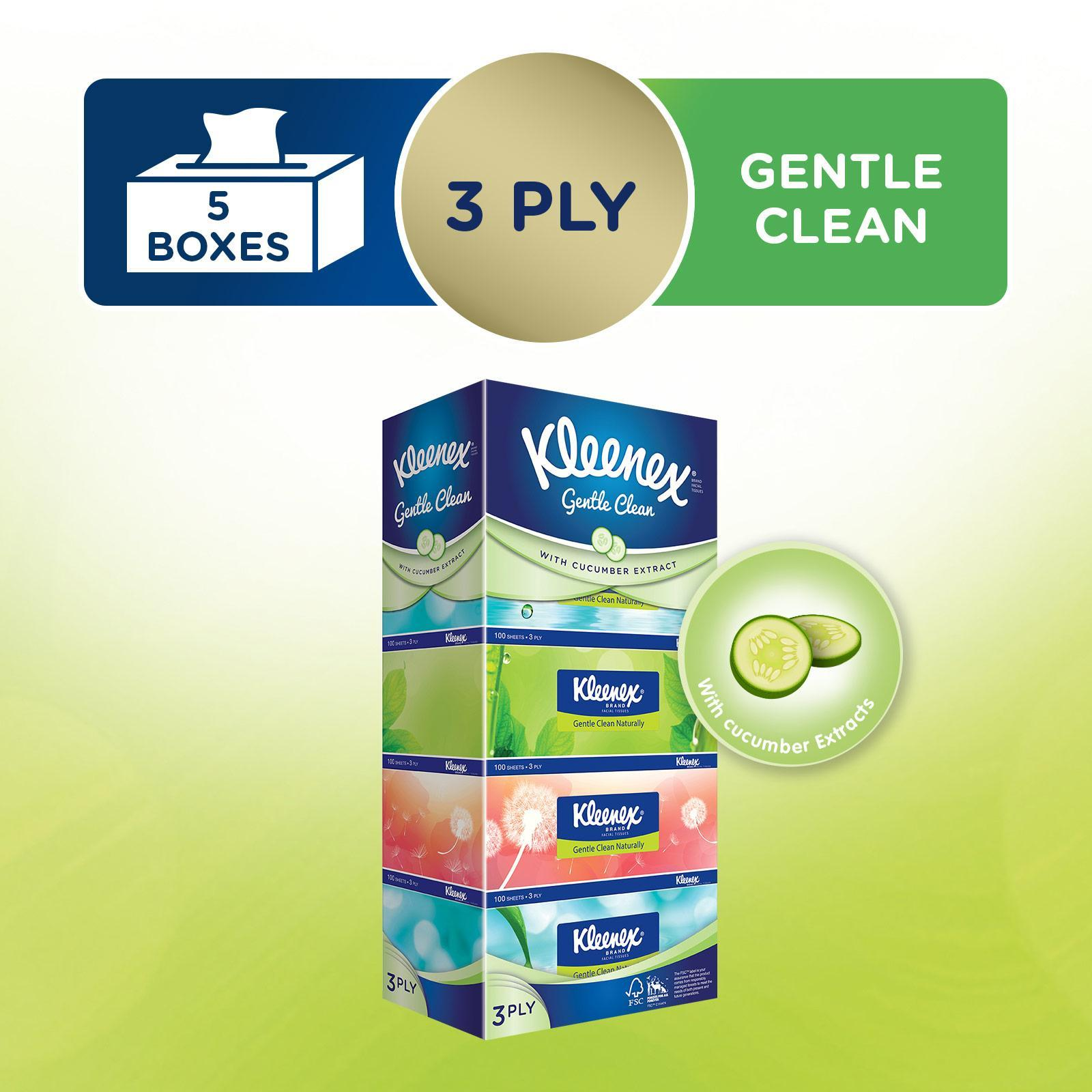 Kleenex Ultra Soft Facial Tissue Natural 3-Ply