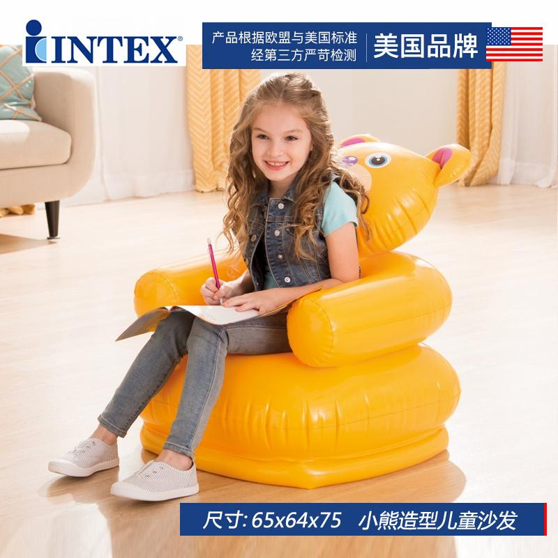 INTEX Inflatable Sofa Child Seat Baby Portable Safe Backrest Chair Stool Kids Chair