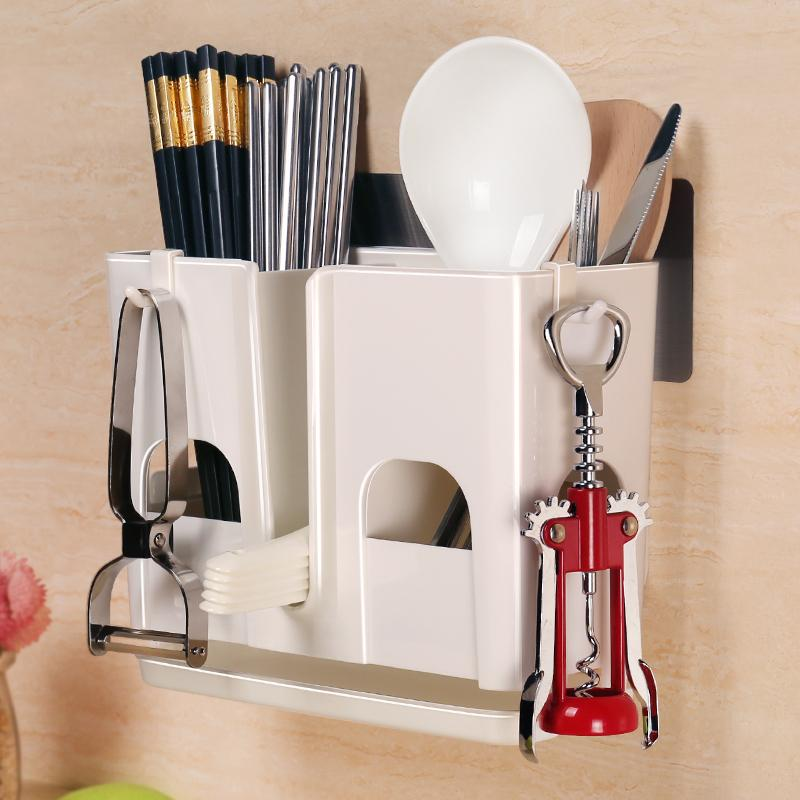 Punched Chopstick Holder Kitchen Hanging Cutlery Holder By Taobao Collection.