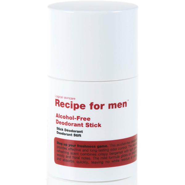 Buy Recipe For Men Alcohol Free Deodorant Stick 75ml Singapore