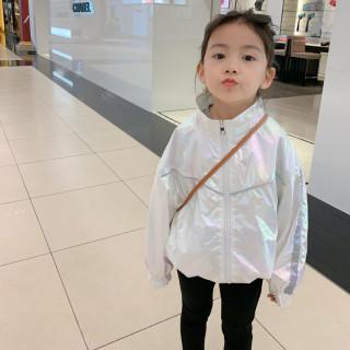 Cô Gái Phong Cách Áo Khoác Áo Khoác 2020 Mới Của Hàn Quốc Trẻ Em Mùa Thu Của Bé Đầy Màu Sắc Áo Khoác Bé Gái Áo Khoác thumbnail