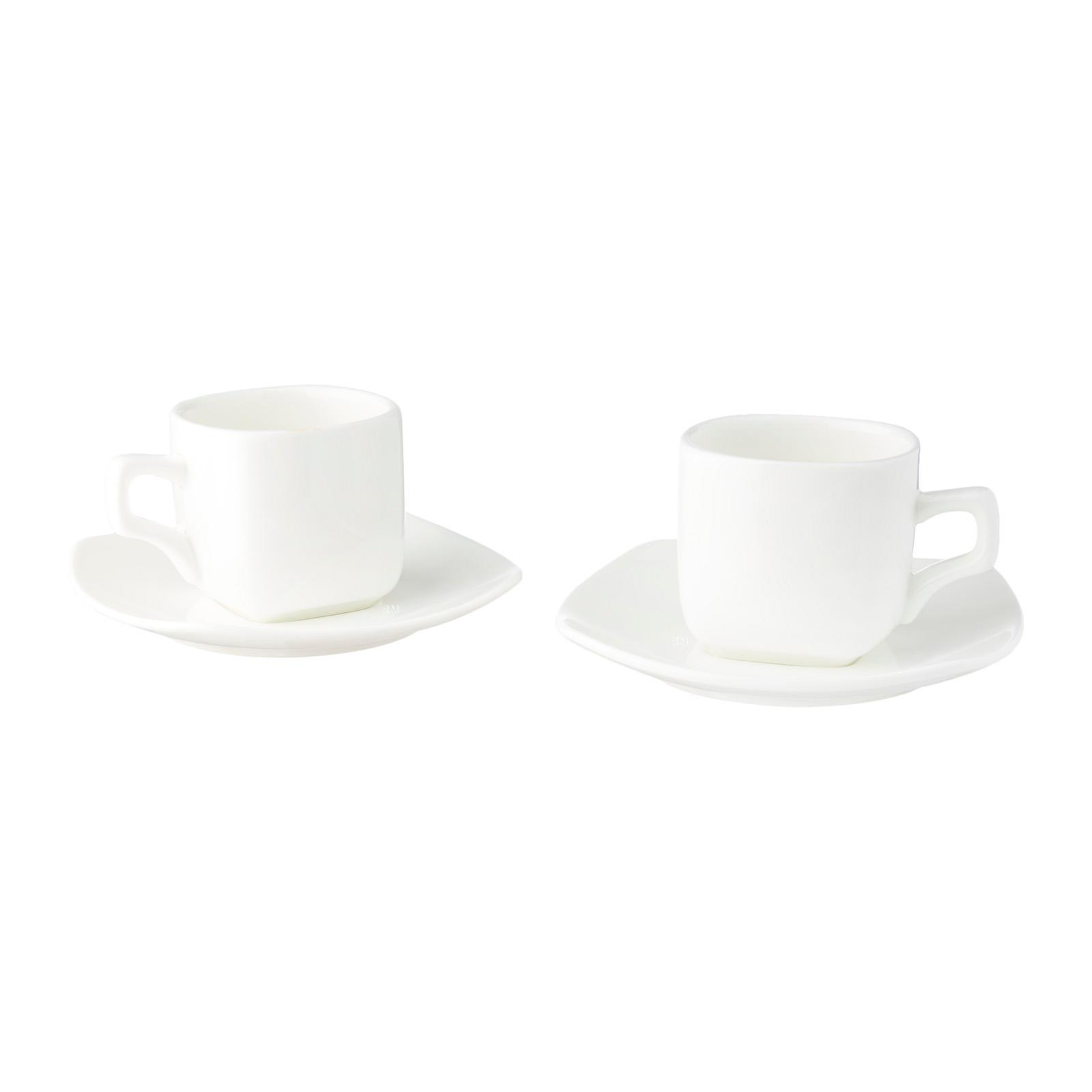 Wilmax England Porcelain Coffee Cup And Saucer 2Pcs Set
