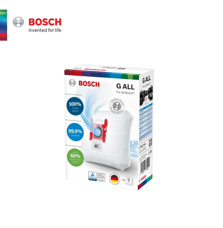 Bosch Clean & Care Range Vacuum cleaner Filter Bags BBZ41FGALL PowerProtect dustbag Type G ALL 4 dust bag 17000940 Singapore