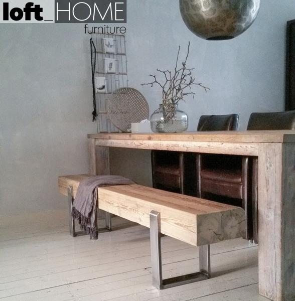 [Pre-Order] Vintage Solid Pine Wood Bench - NOER