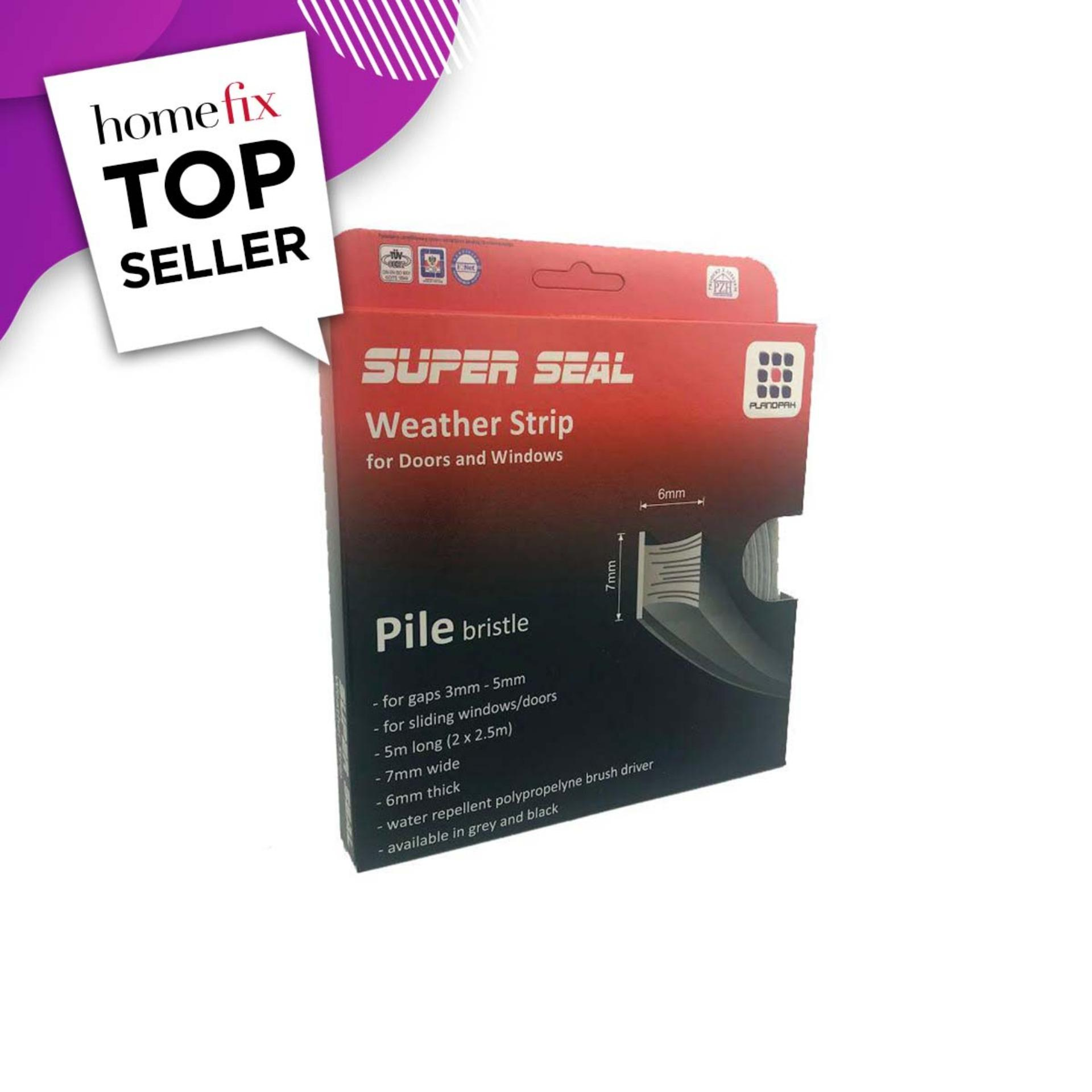SuperSeal Pile Weatherstrip Grey 7X6mm(2X2.5M)