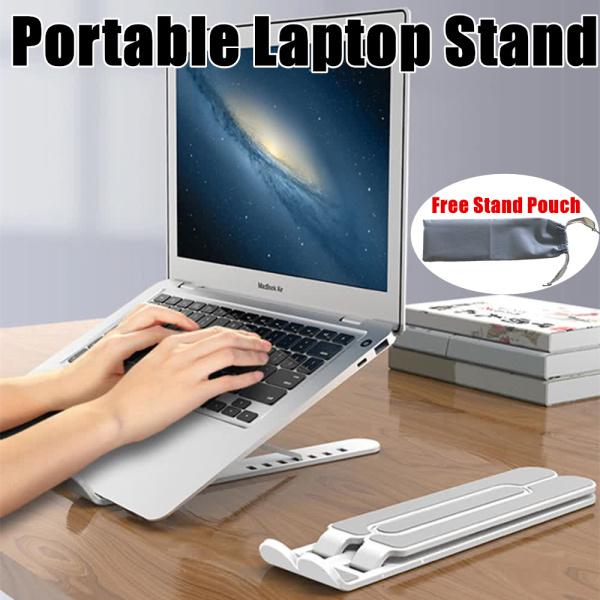 [SG Seller] Portable Laptop Stand Foldable Adjustable Support Base Non-slip Notebook Holder