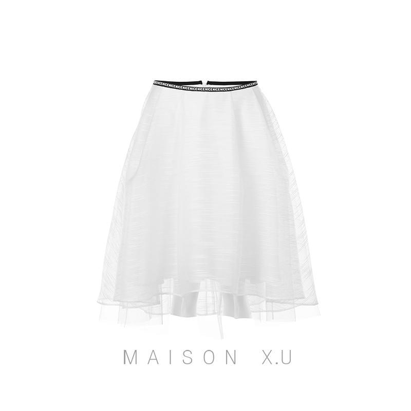 Entry-Level Base [maison X.u] France Couture Zxl 2020 New Products Gauze Skirt.