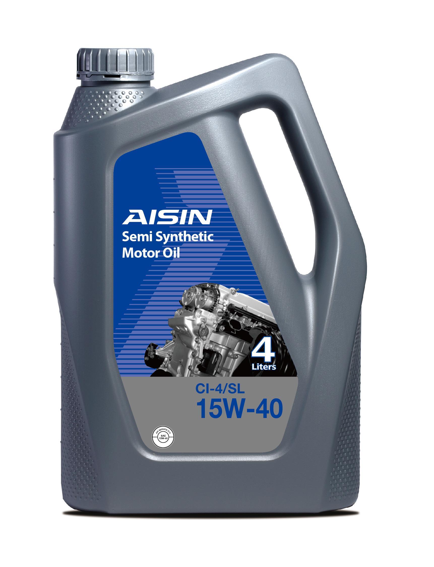 AISIN Semi-Synthetic Engine Oil 15W-40 CI-4/SL 4Litre