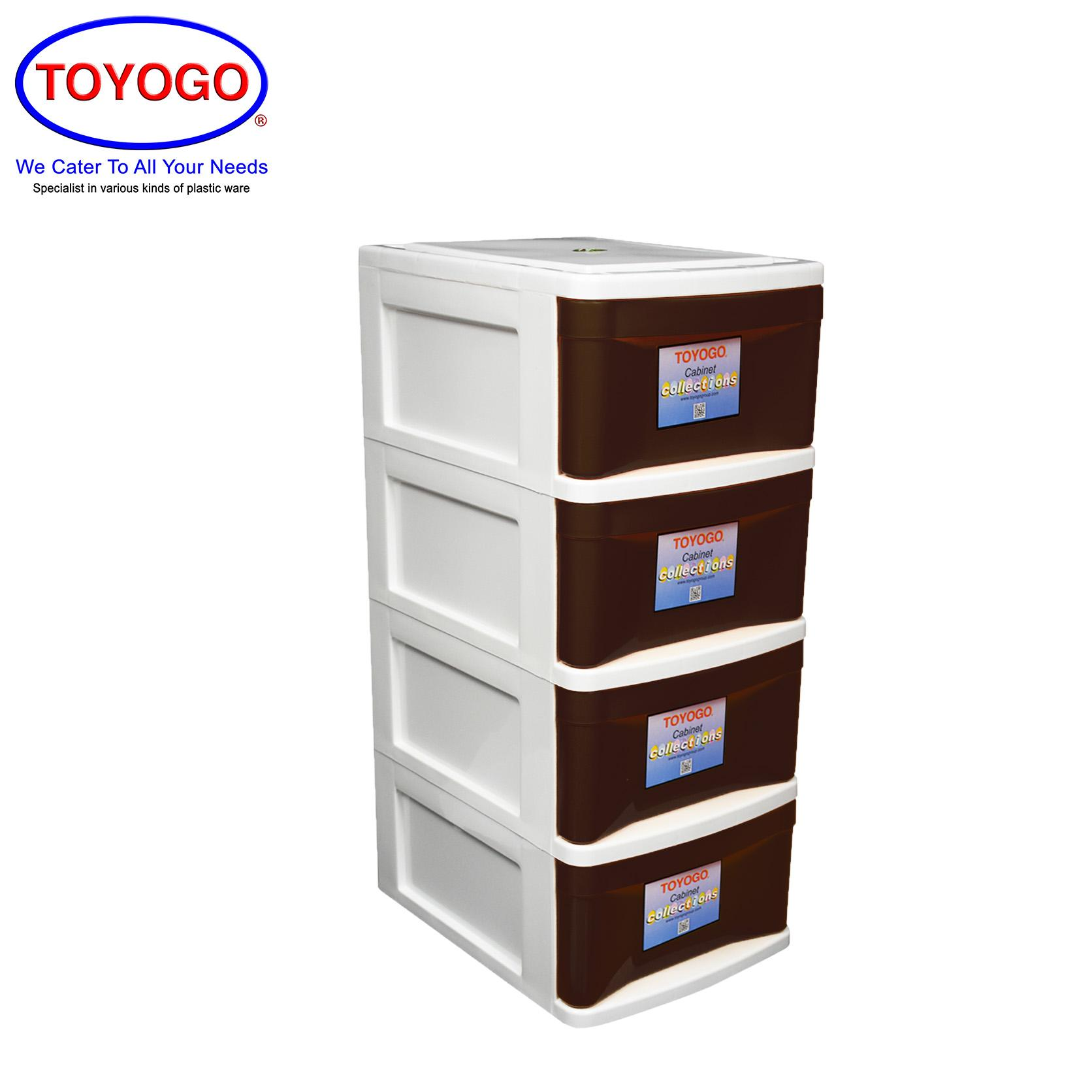 Toyogo Plastic Fuji A4 Stationery Drawer (4 Tier) (905-4)