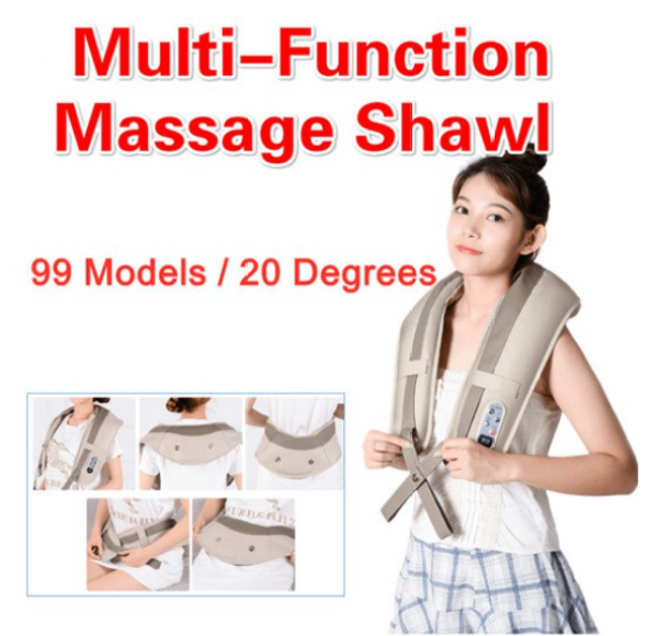 Buy 🔶Local Ready Stocks🔶 Smart Electric Massage Shawl Cervical Massage Shoulder Back Waist Abdomen Massage Multifunction 99 Models 20 Degrees Pain Relief Relaxation Body Shawl Kneading Portable Message (Free Conversion Plug)) Singapore