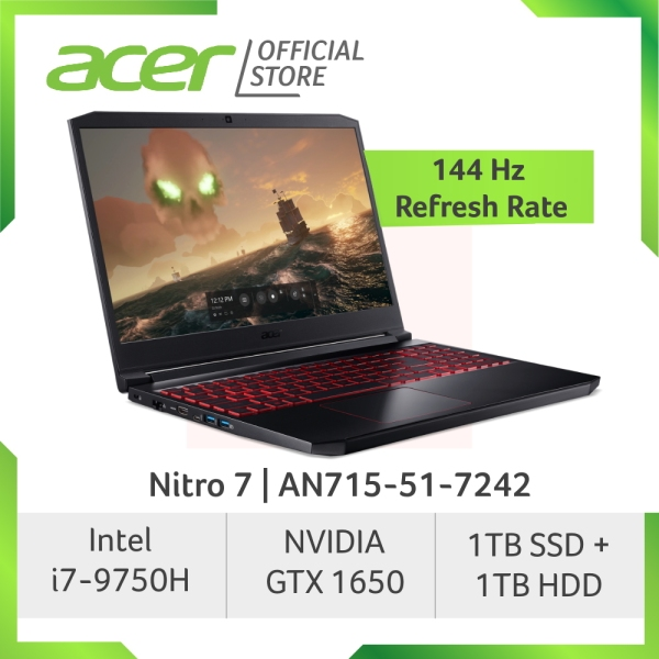 [READY STOCKS] Acer Nitro 7 AN715-51-7242 NEW gaming laptop with 9th Gen Intel Core i7-9750H processor