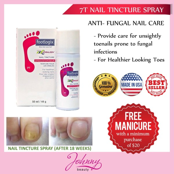 Buy Footlogix Anti Fungal Nail Tincture Spray 50ml - Nail Care - For Healthier Looking Toes Singapore