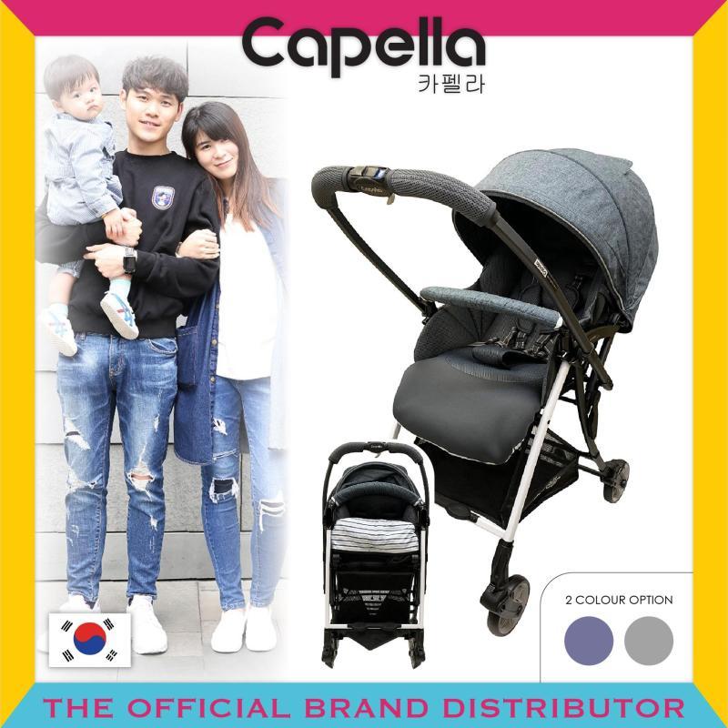 Capella® S206-19-DG / S206-19-NV Wi-Lite Plus Stroller Dark Grey (Black) / Navy Singapore