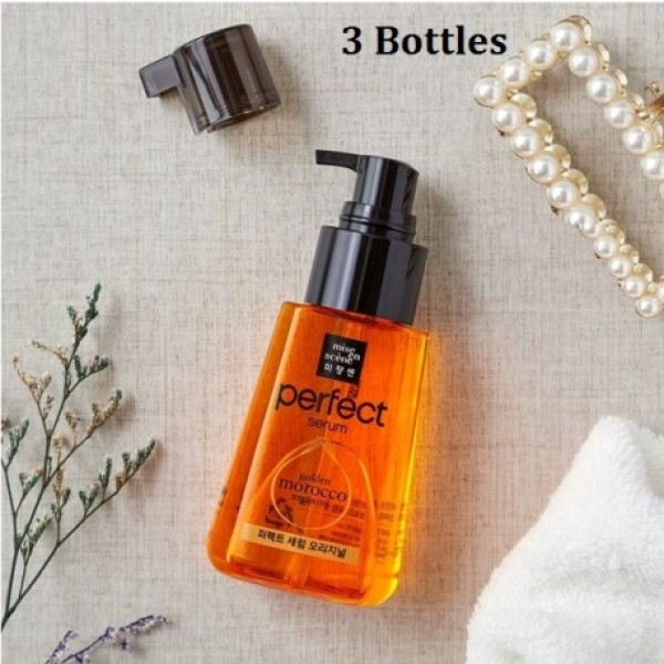 Buy Korea Mise-en Scene Damage Perfect Repair Serum Original 3 x 80ml; Highly Concentrated Serum with Argan Oil that improves hair tangles & breakage for silky hair; Smoove1 Singapore
