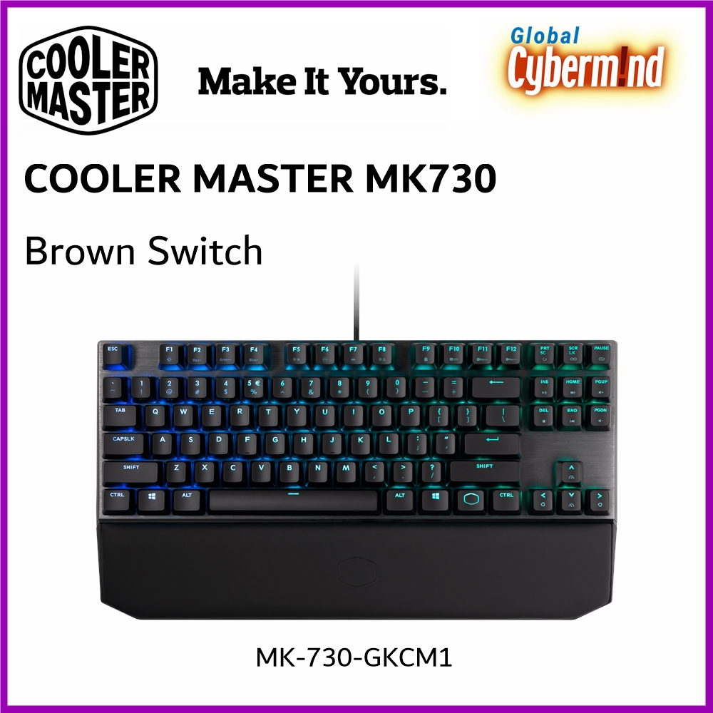Cooler Master MK730 Cherry MX RGB Mechanical Gaming Keyboard [Brown Switch] ( Brought to you by Cybermind ) Singapore
