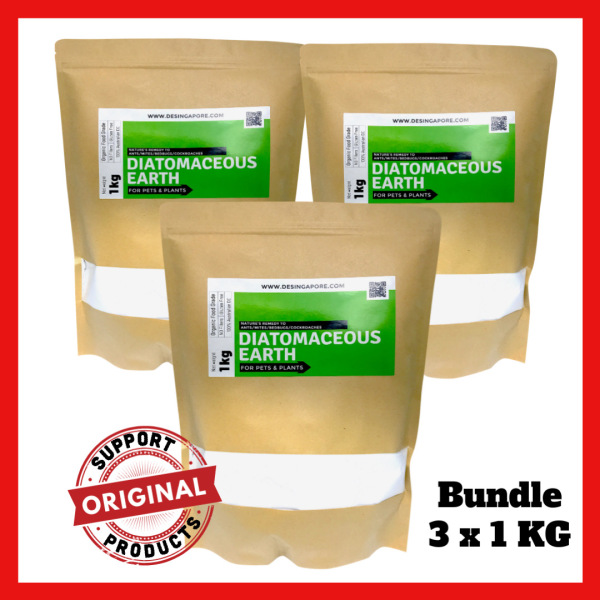 [BUNDLE PROMO] DENutrients Food Grade Diatomaceous Earth (3 x 1kg) ♥ Made in Australia ♥ FREE Courier Delivery for MealyBugs, Thrips, Millipedes, Ants, Root Mealies, Aphids