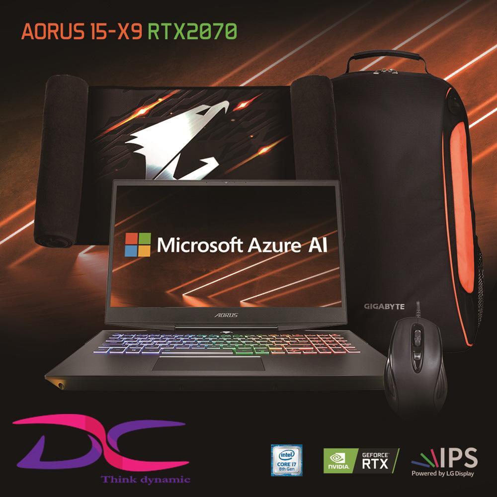 Gigabyte Aorus 15 Xv9 FHD 15.6 LG 144Hz IPS Panel i7-8750H RTX 2070 GDDR6 8GB Win10 (2Y Warranty)