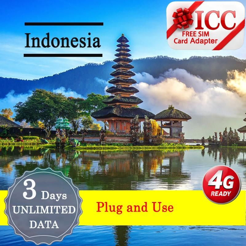 Icc_【indonesia Sim Card·3/6/8 Days 】·new·❤4glte + Unlimited Data❤telkomsel/indosat By Icc.