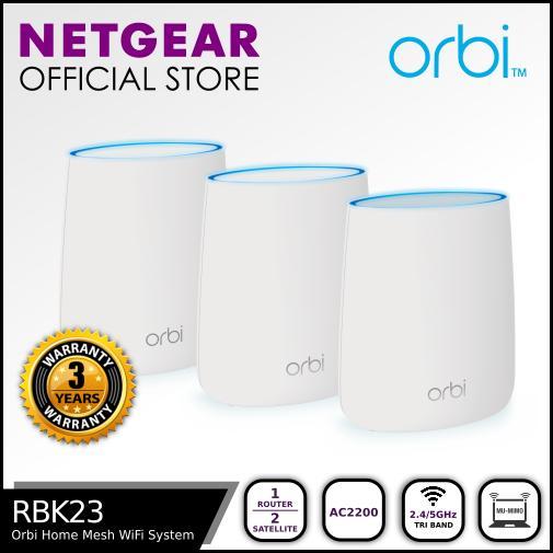 Netgear Orbi AC2200 Wireless WiFi Satellite Mesh System (1 Router / 2  Satellites) - RBK23