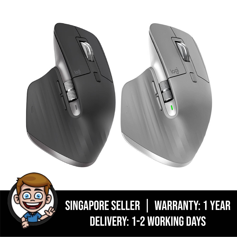 Logitech MX Master 3 Advanced Wireless Mouse - Graphite / Mid Grey