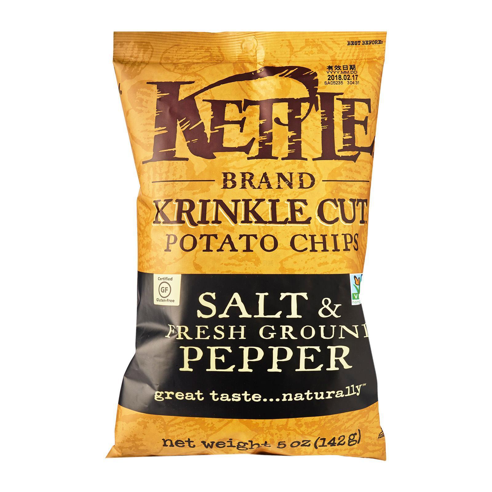 Kettle Krinkle Salt And Fresh Black Pepper Potato Chips