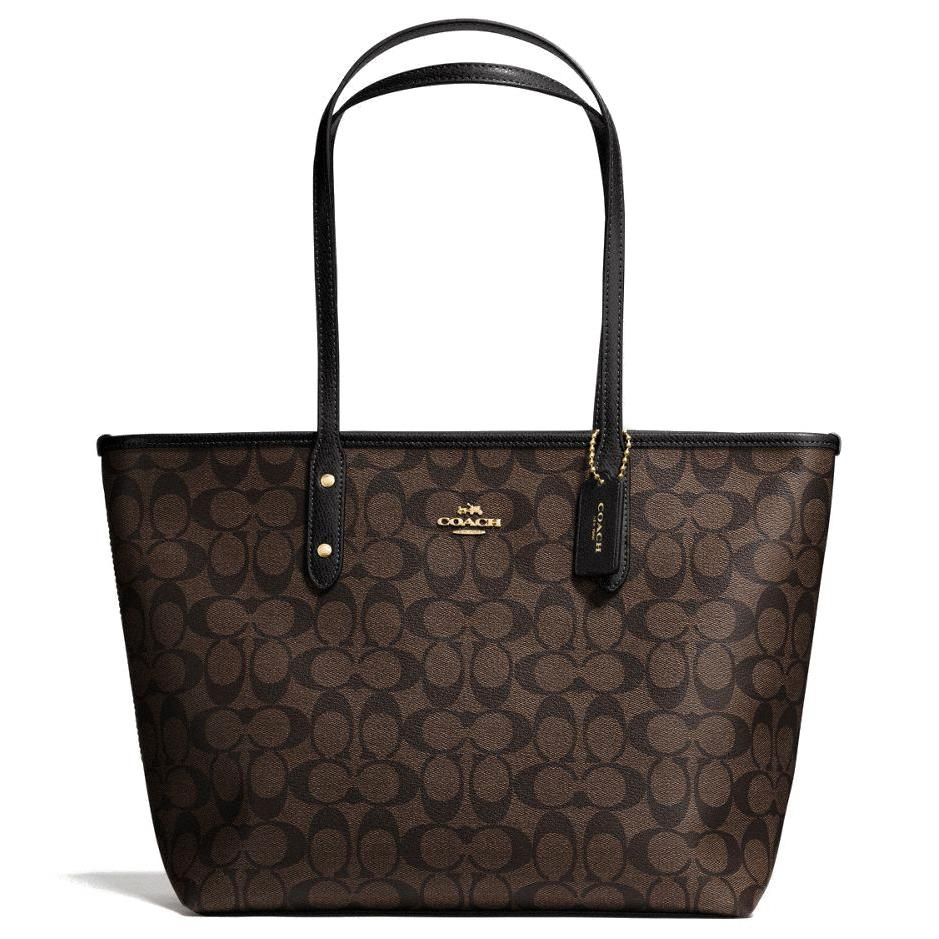 42fc2c8963 Coach Bag Tote Shoulder Bag In Gift Box 100% Authentic City Zip Tote F58846  F36876