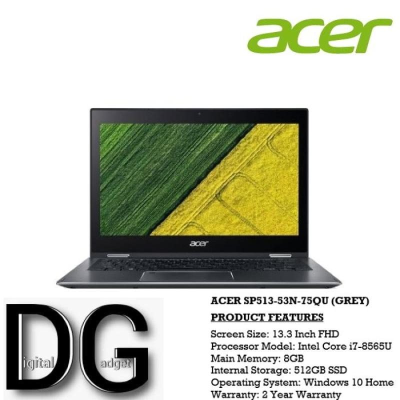 ACER SP513-53N-75QU(GREY) 13.3 IN INTEL CORE I7-8565U 8GB 512GB SSD WIN 10