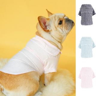 1 Bộ Đồ Ngủ Cho Thú Cưng, Trang Phục Hai Chân Mỏng Tay Ngắn Thiết Kế Sọc Cho Chó Con Chó Con Chó Con thumbnail