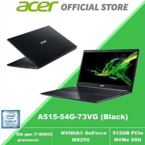 Acer Aspire 5 A515-54G-73VG (Black) 8th Gen Core i7 with NVIDIA® GeForce® MX250