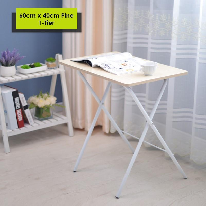 MDF Wooden Folding Table Foldable Portable Study Desk Two Types Sturdy
