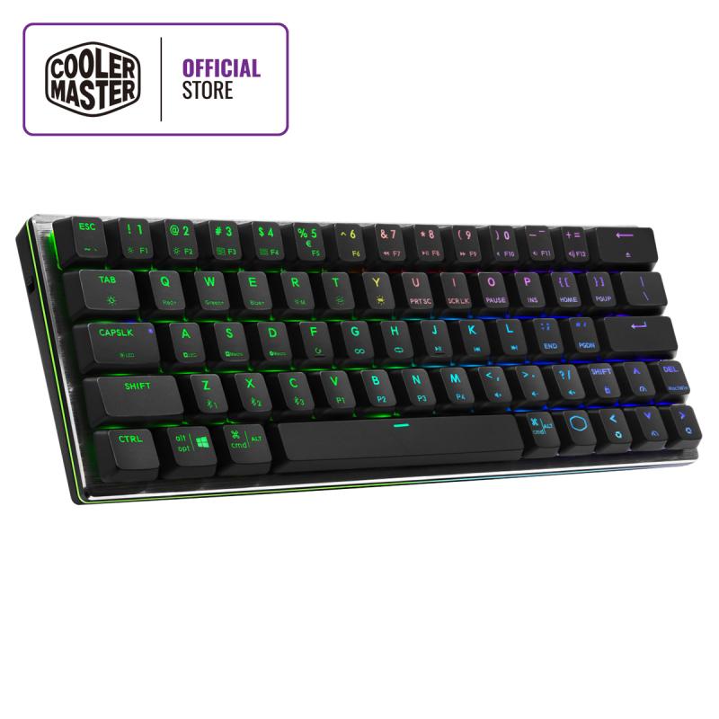 Cooler Master SK622 Wireless 60% Mechanical Keyboard, Low Profile Switches, RGB Backlighting, Ergonomic Keycaps, Brushed Aluminum Design, Multiple OS Support Singapore
