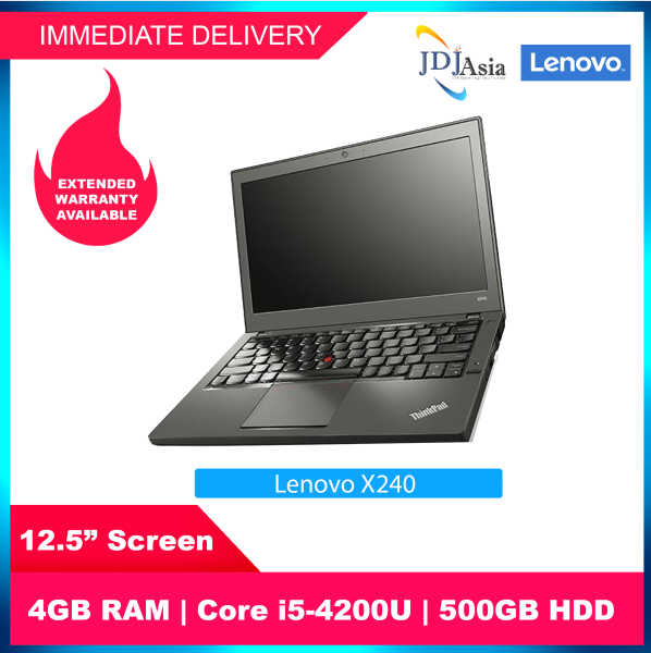 [Immediate Delivery] Refurbished Lenovo Thinkpad X240 X250 X260 12.5 Inch Core i5-4200U / 5200U 4GB 8GB 500SATA SSD Win10 Pro Notebook Laptop [Up to 24 Months Warranty]
