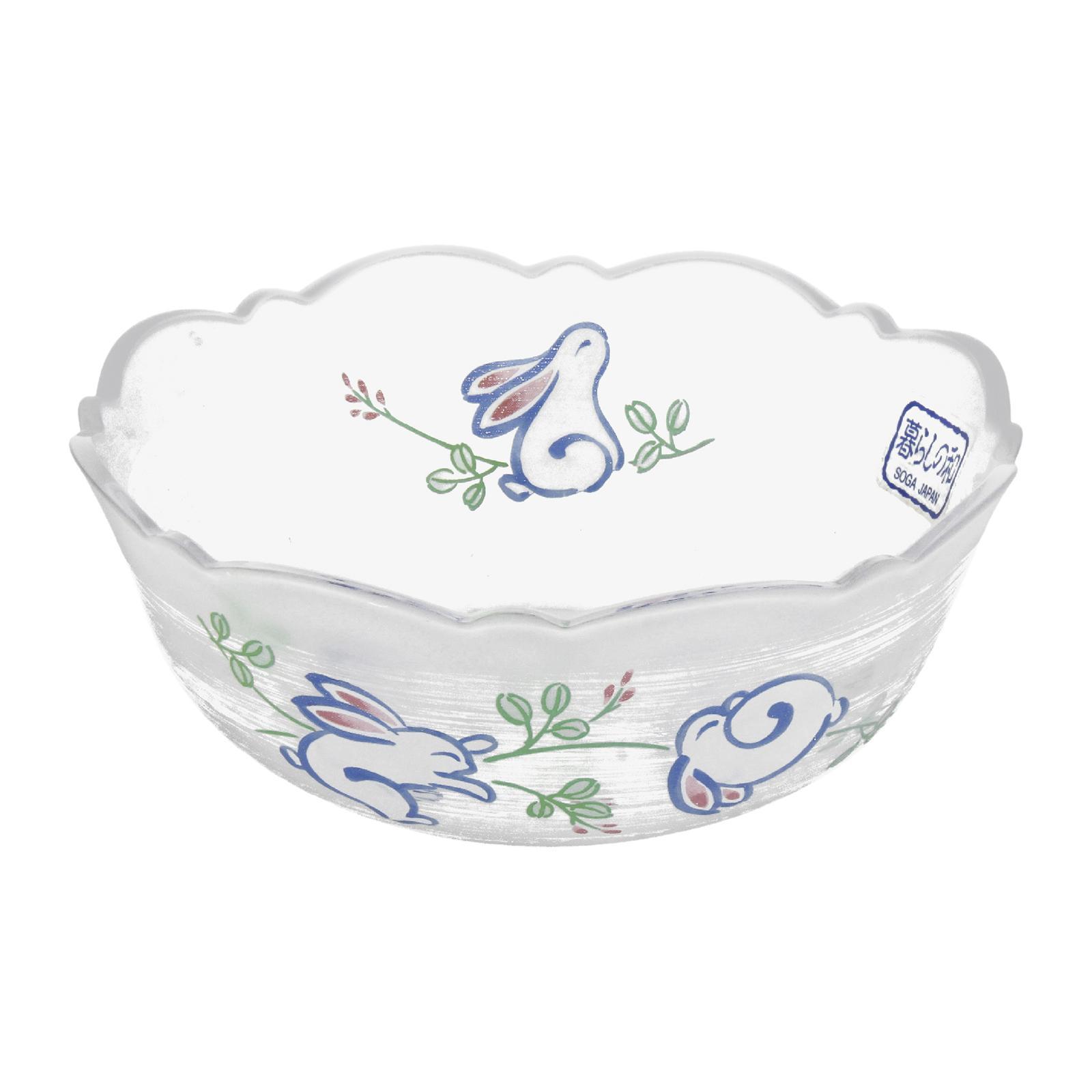 Soga Rabbit Frosted Glass Bowl 5 5-PCS Set