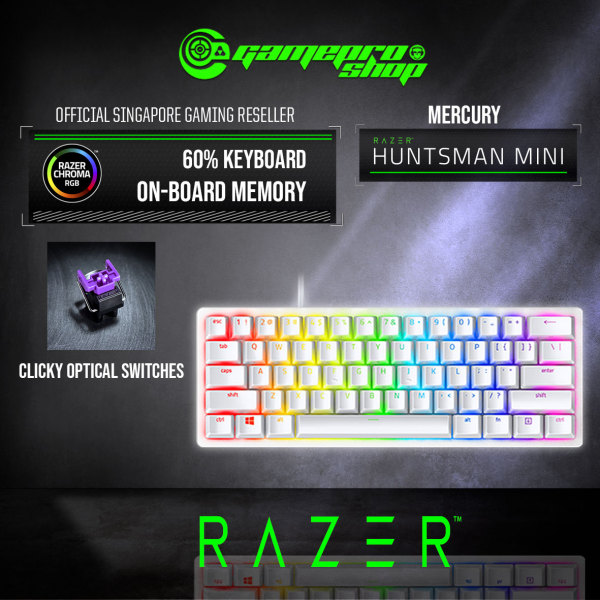 Razer Huntsman Mini - 60% Optical Gaming Keyboard (2Y) Singapore