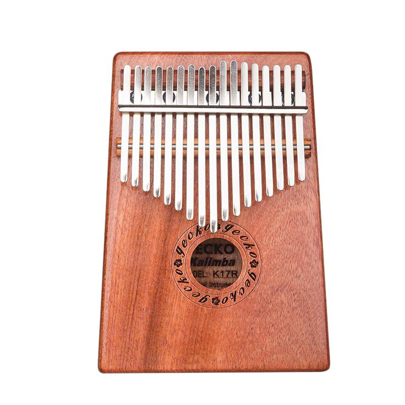 GECKO 17 Key K17R Kalimba Veneer Thumb Piano Finger Percussion Music Instruments for Kids Adult Gift