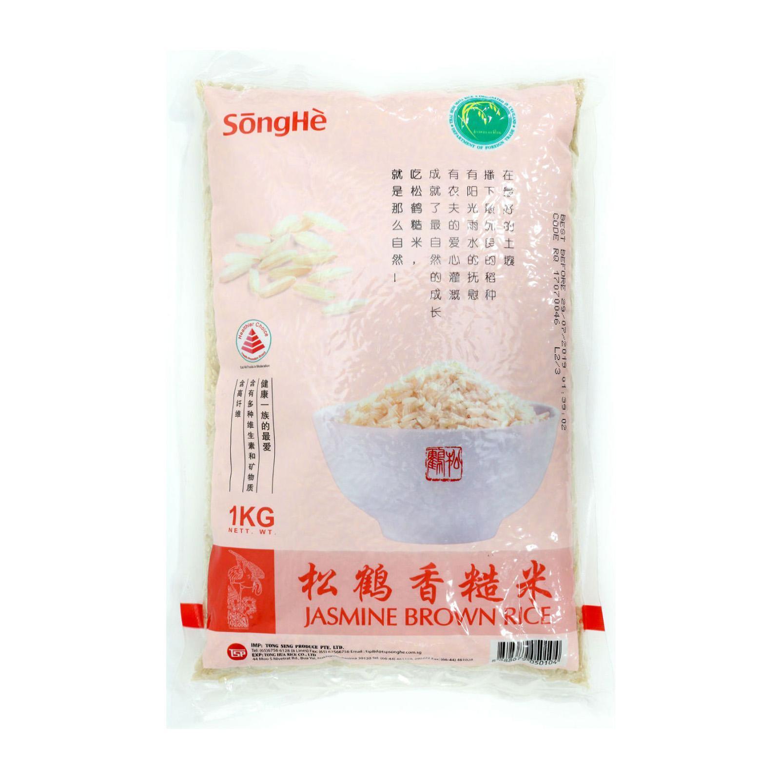 SongHe Jasmine Brown Rice 1Kg