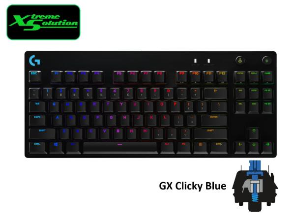 Logitech G Pro X Mechanical Keyboard (GX Blue Switches) (Hot-Swappable Pro-Grade Switches Sold Separately)