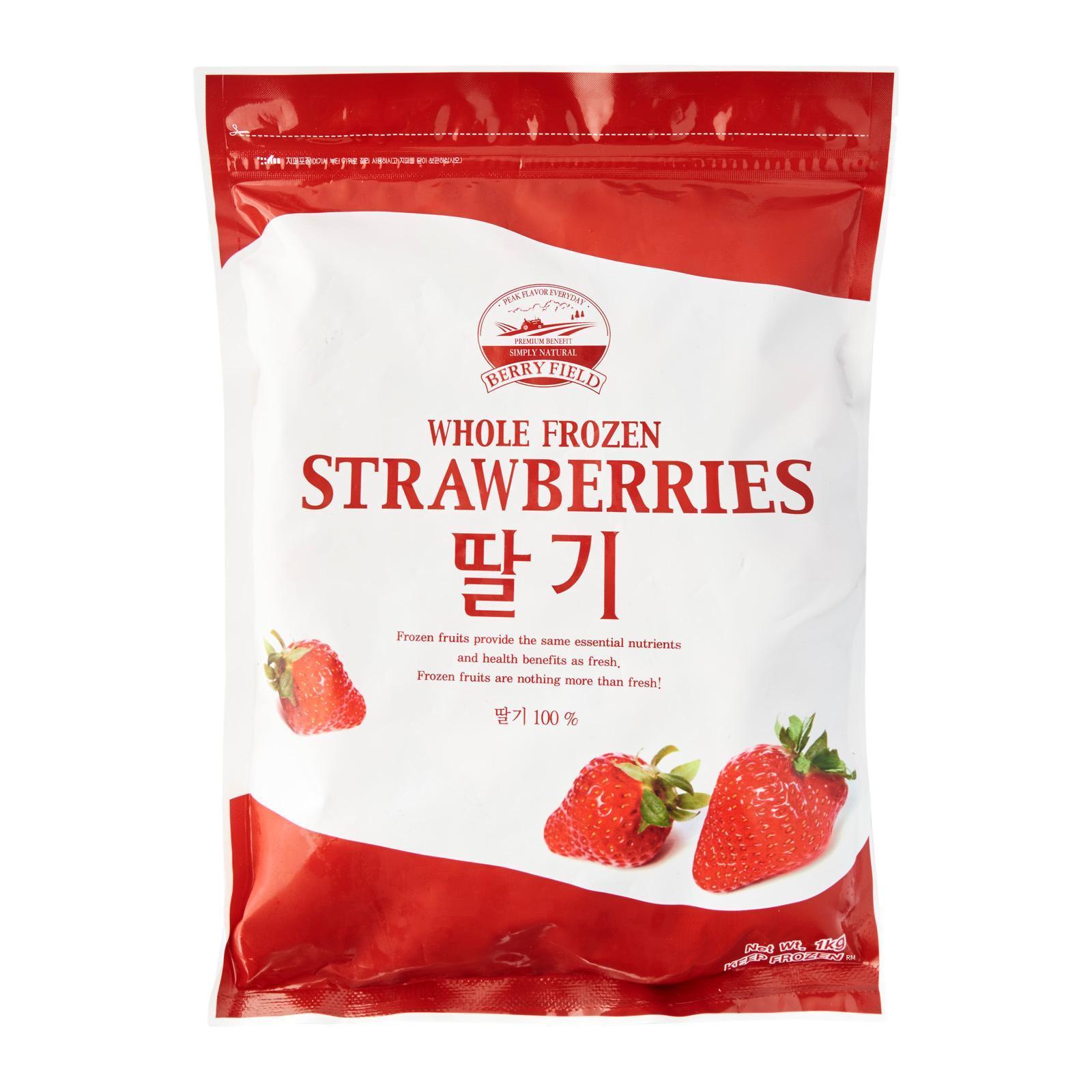 Berry Field Whole Korean Strawberry Fruits - Frozen