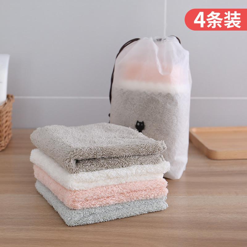 Pack Of 4 Kitchen Dishcloth Table Cleaning Cloth Water Absorption Is Not Easy To With Oil Coral Velvet Lazy Cleaning Cloth Wipe The Dishes Only Cloth By Taobao Collection.