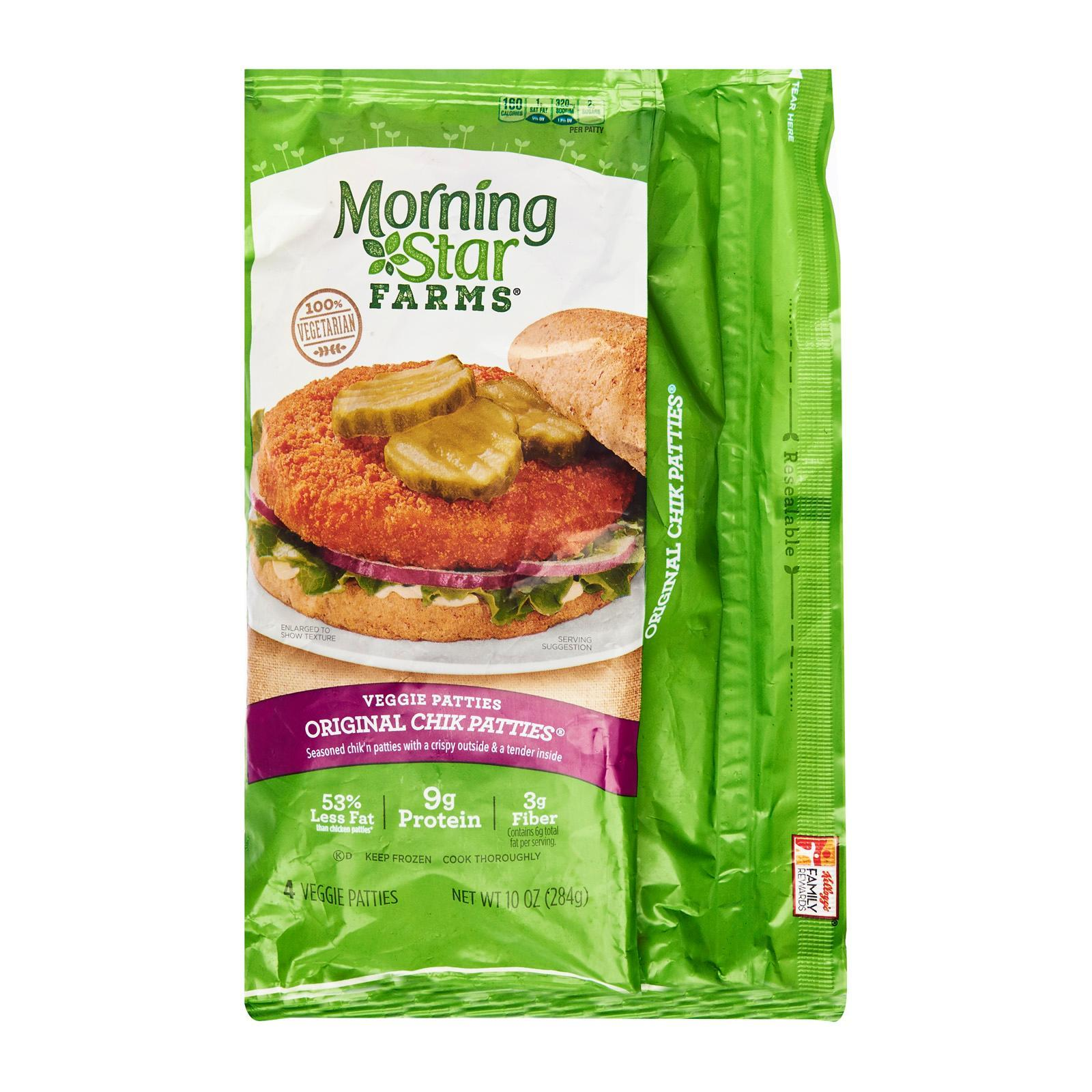 Morning Star Farms Original Chik Vegetarian Patties - Frozen By Redmart.
