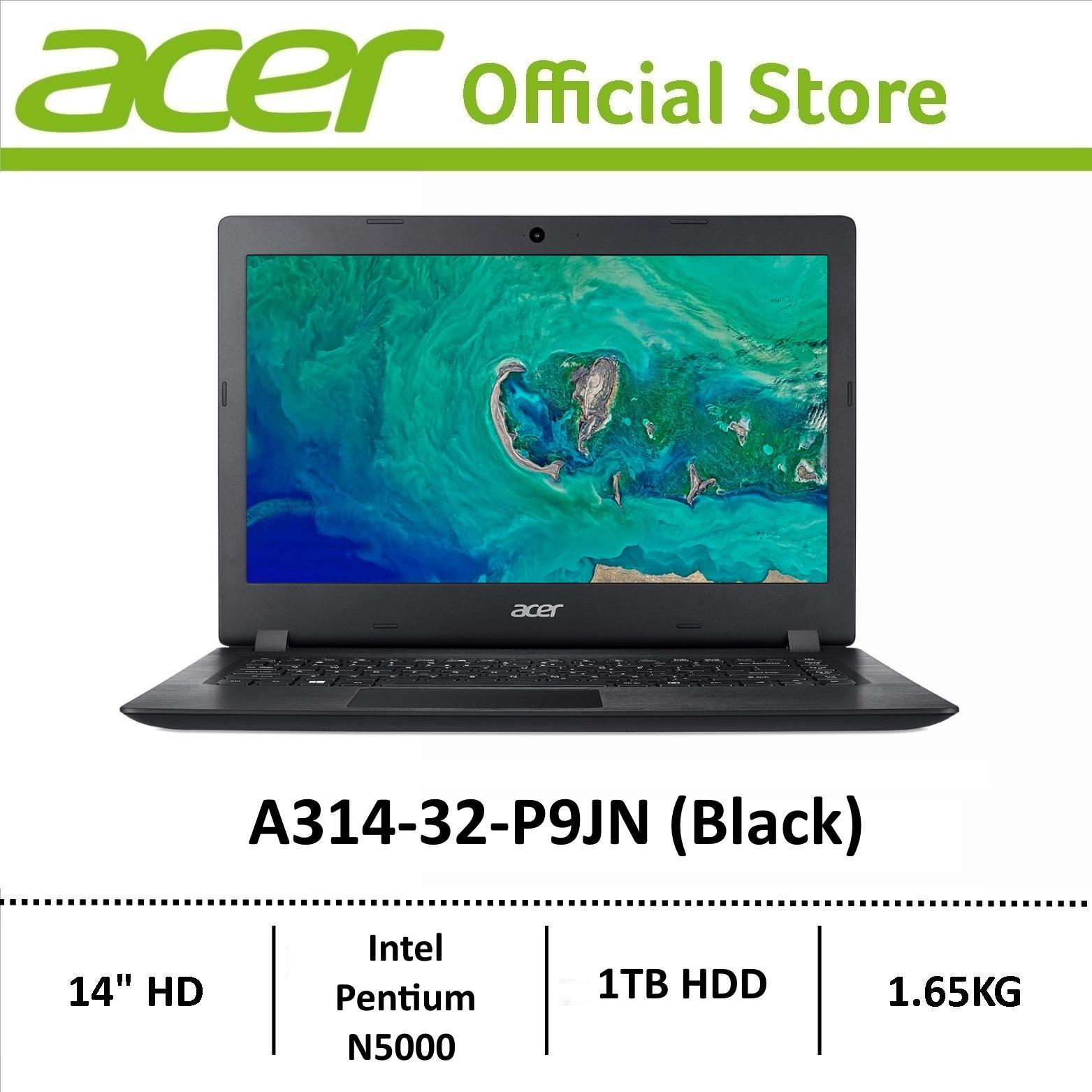 Acer Aspire 3 A314-32-P9JN (Black) 14-Inch Laptop with 1TB Storage