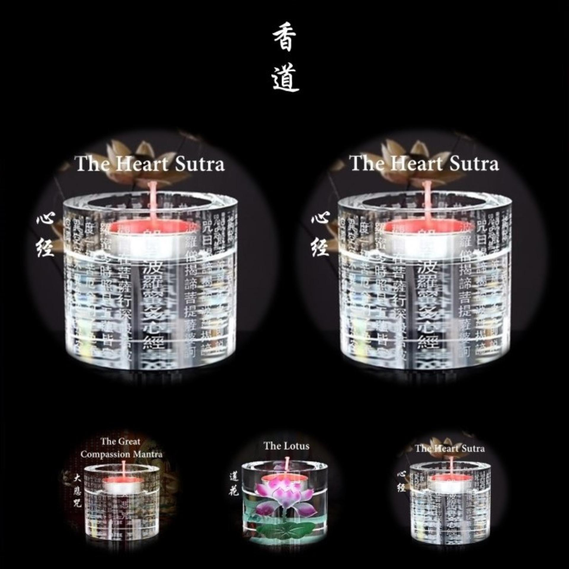 1 pair x Crystal-like Butter Lamp Stand